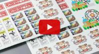 白PETデザインシールの試作 動画